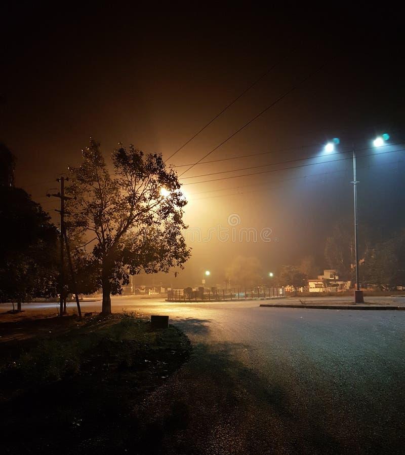 Noche fría del invierno foto de archivo