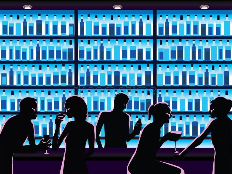 Noche hacia fuera libre illustration