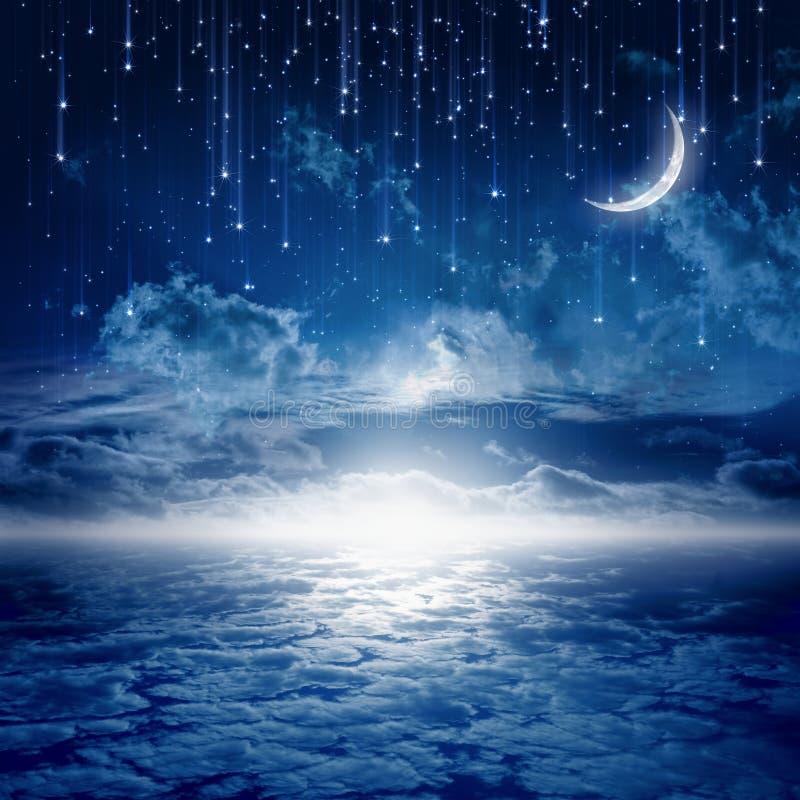 Noche hermosa stock de ilustración