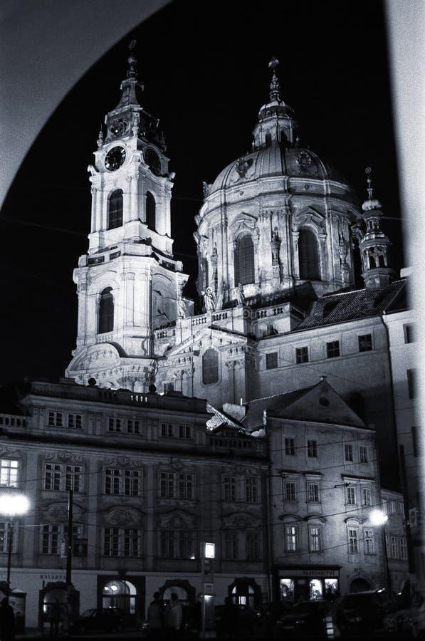 Noche I de Praga foto de archivo