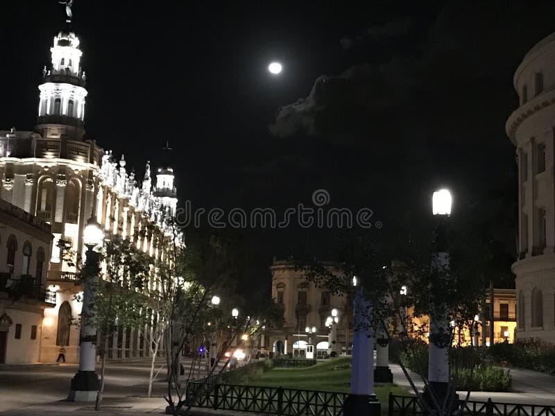 Noche iluminada por la luna imágenes de archivo libres de regalías