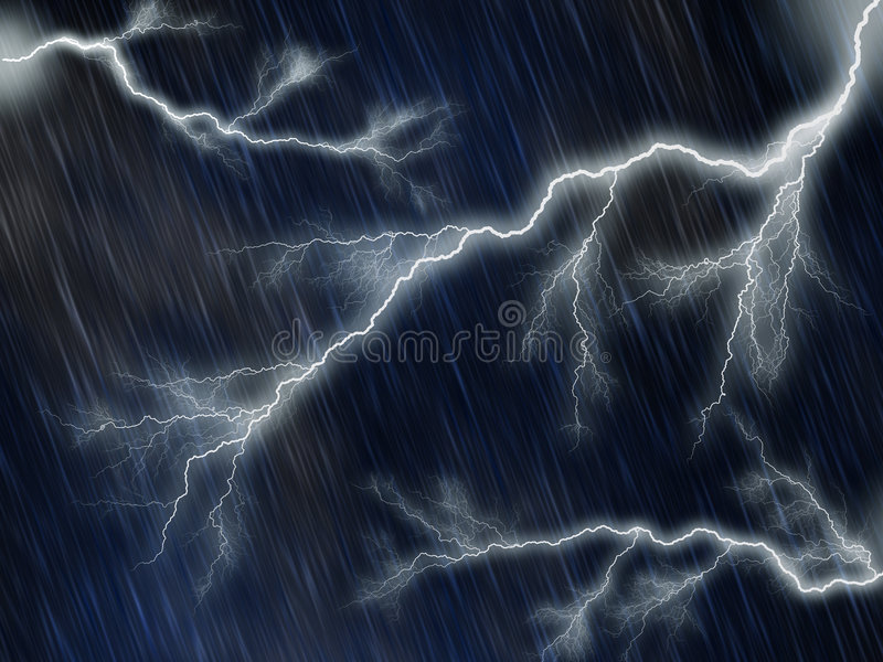 Noche lluviosa y tempestuosa foto de archivo libre de regalías