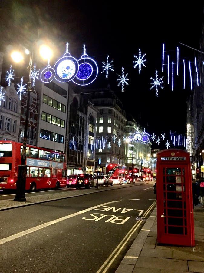 Noche Londres fotografía de archivo