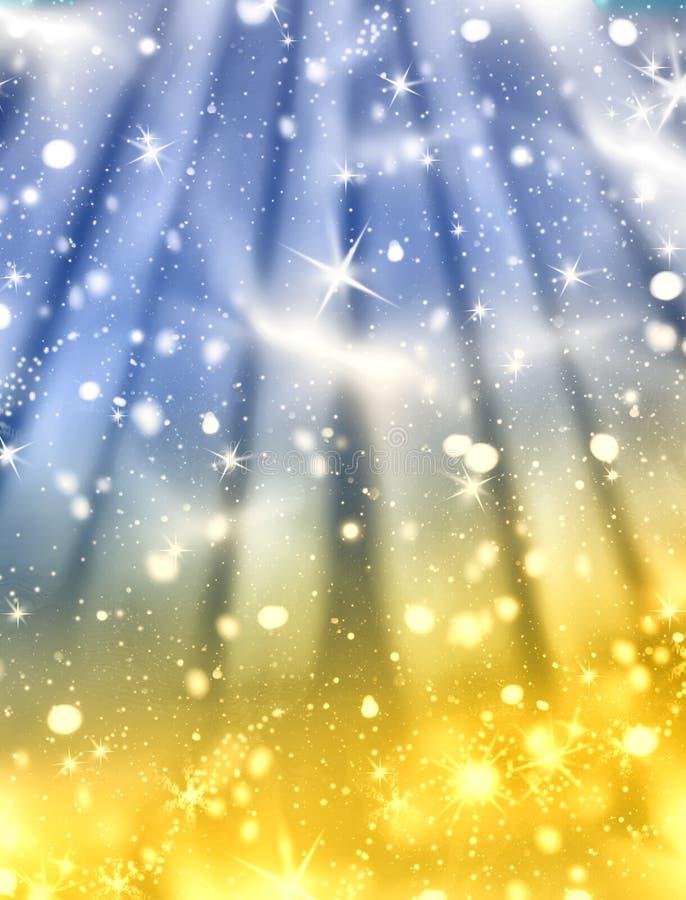 Noche mágica del invierno imagen de archivo