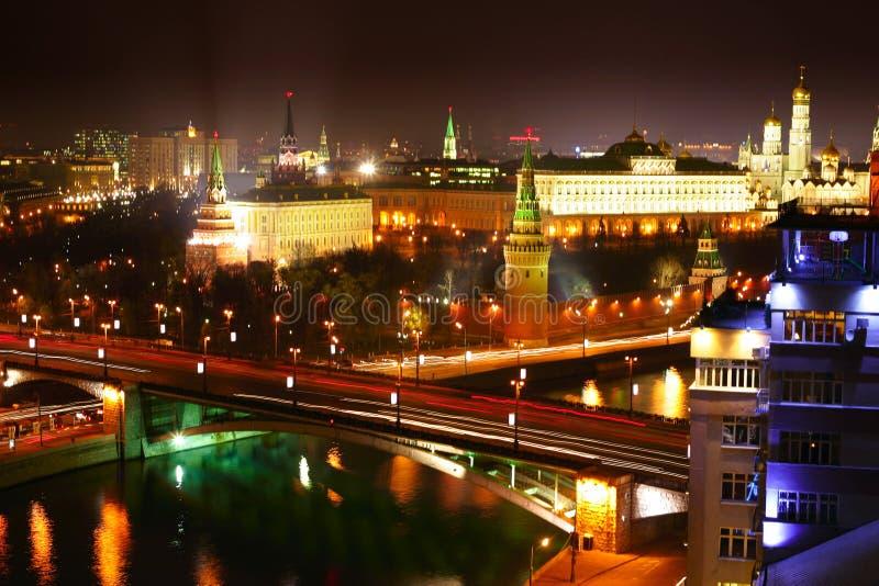 Noche Moscú imagen de archivo