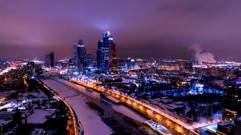 Noche Moscú imagen de archivo libre de regalías