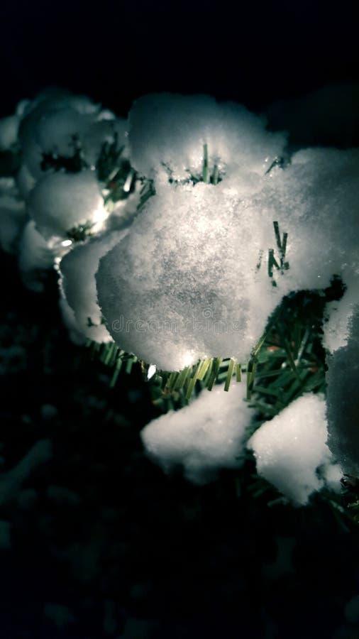 Noche Nevado imagenes de archivo