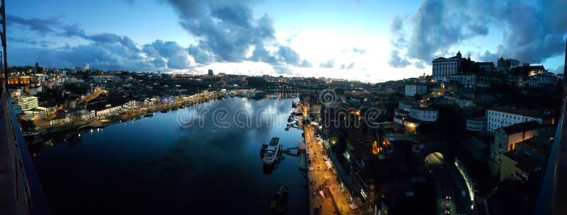 Noche Oporto fotografía de archivo libre de regalías