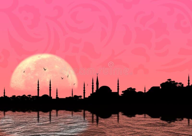 Noche oriental ilustración del vector