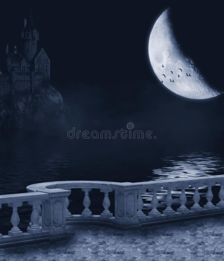 Noche oscura ilustración del vector