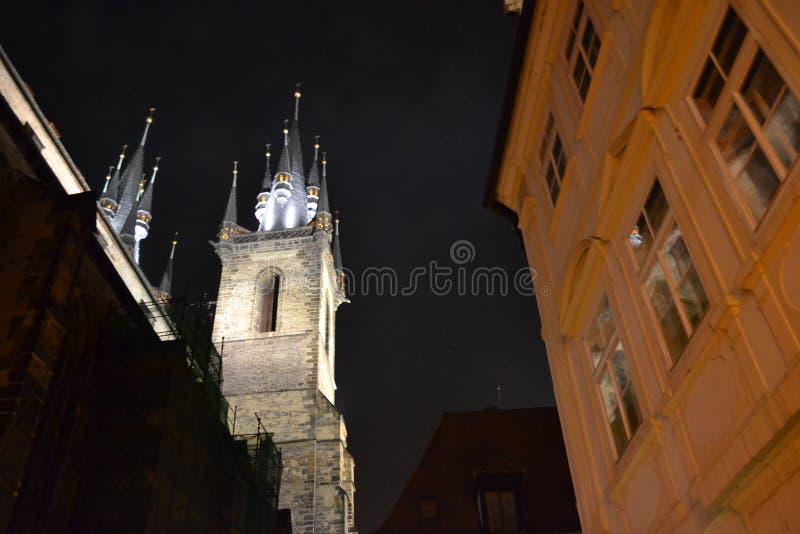 Noche Praga imagen de archivo libre de regalías