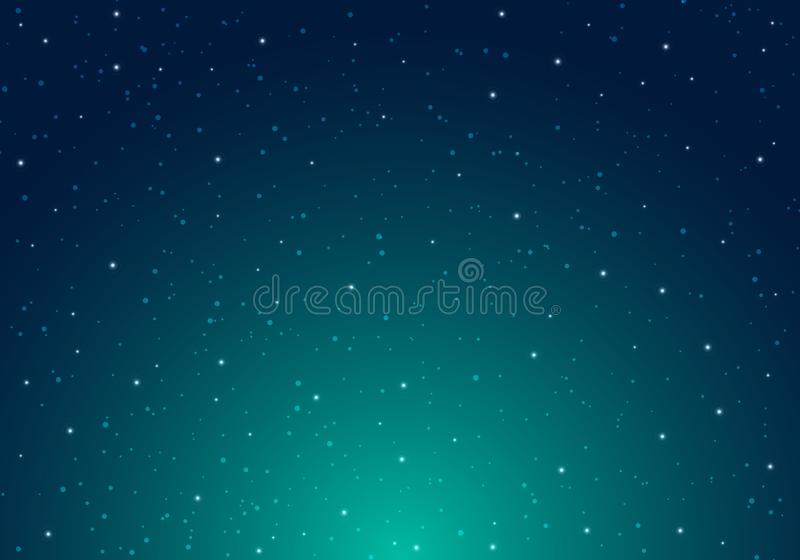 Noche que brilla el cielo nocturno estrellado con infinito del espacio del universo de las estrellas y la luz de las estrellas en stock de ilustración
