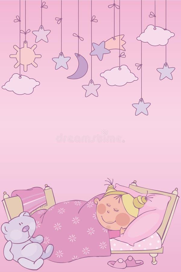 Noche rosada ilustración del vector