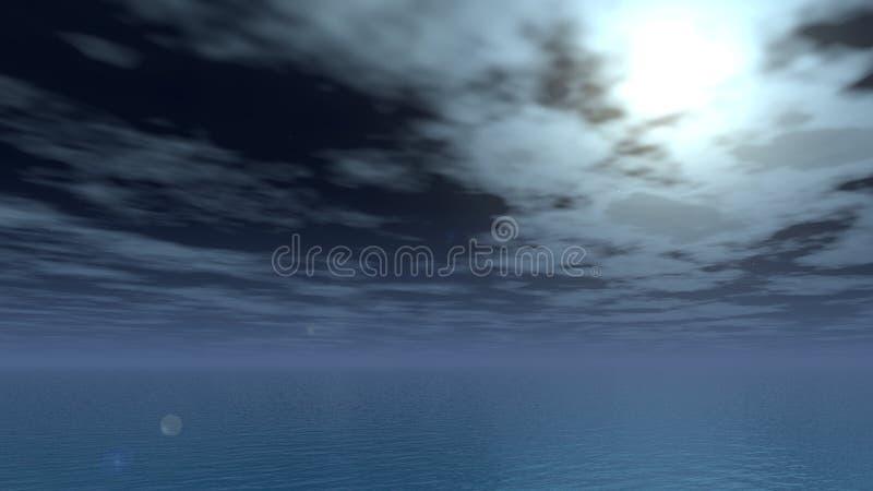Noche tranquila de la luna fotografía de archivo