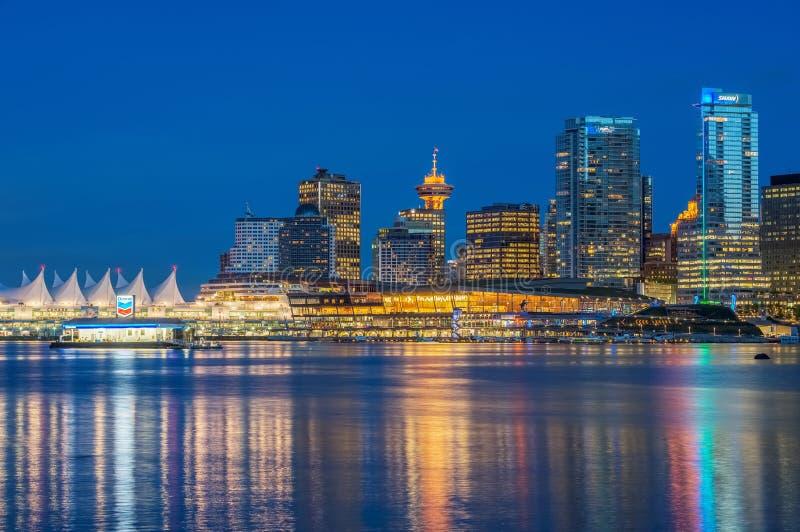 Noche Vancouver imágenes de archivo libres de regalías