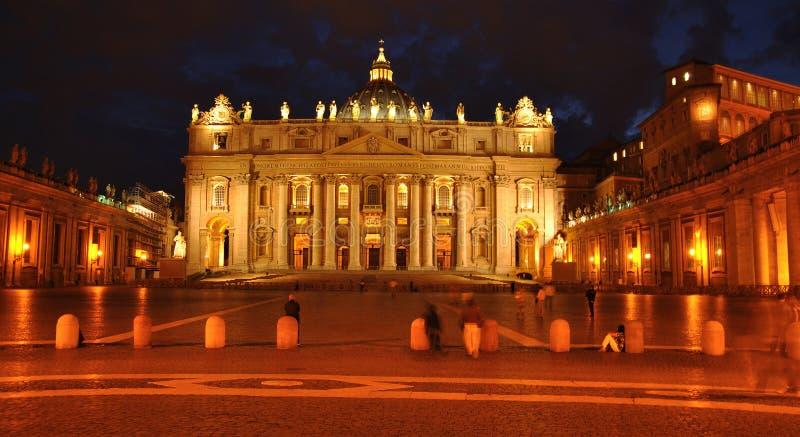 Noche Vatican foto de archivo libre de regalías