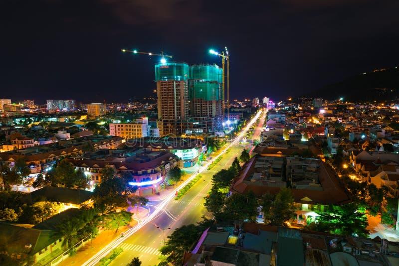 Noche Vung Tau, Vietnam fotografía de archivo