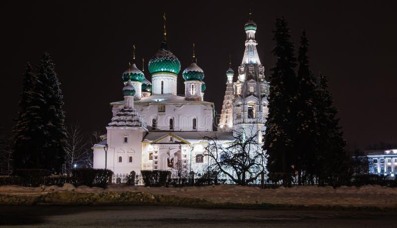 Noche Yaroslavl imágenes de archivo libres de regalías