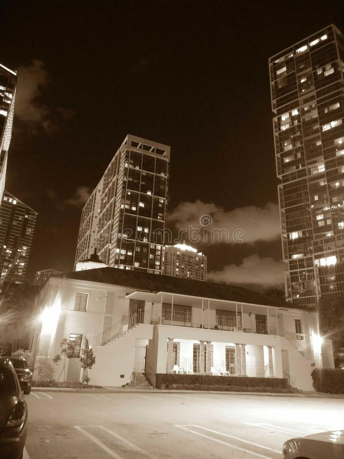 Noches de Brickel foto de archivo