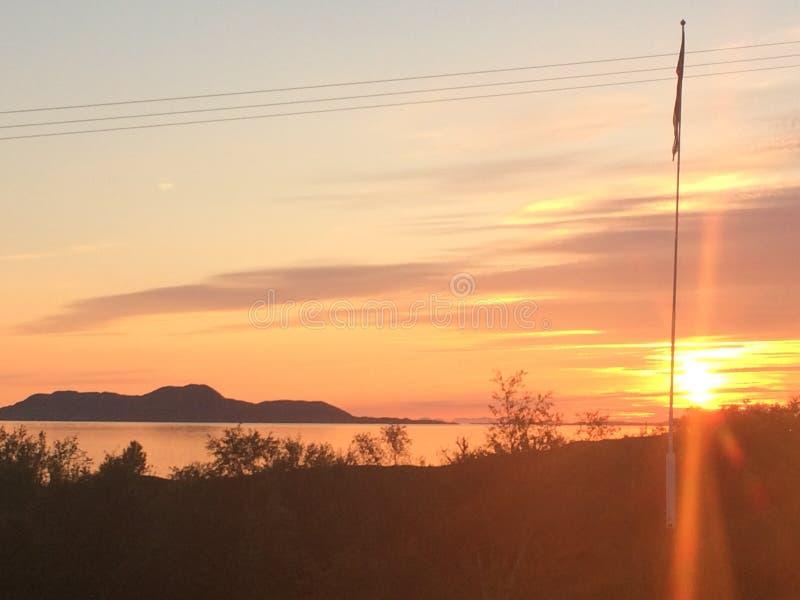 Noches de verano noruegas foto de archivo libre de regalías