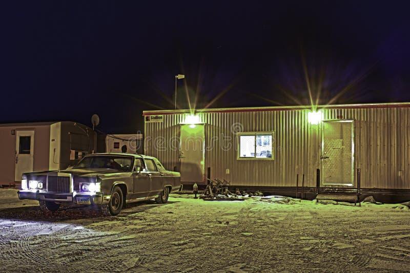 Noches HDR del invierno imagen de archivo