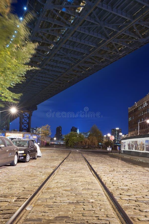 Noches New York City de Brooklyn imagen de archivo libre de regalías