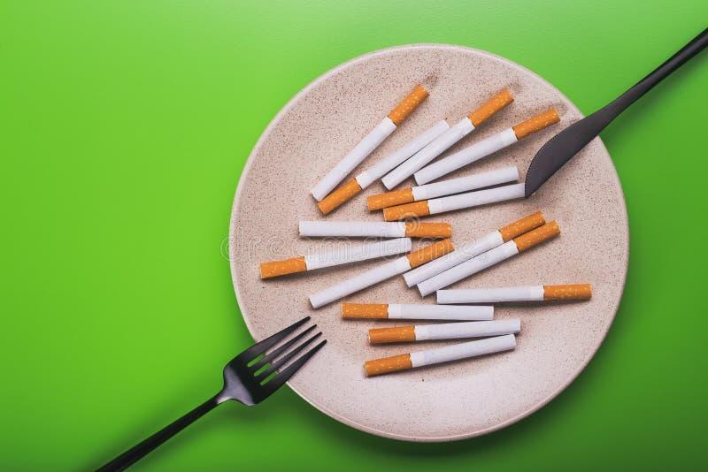 nocivité d'idée de concept du tabagisme image stock