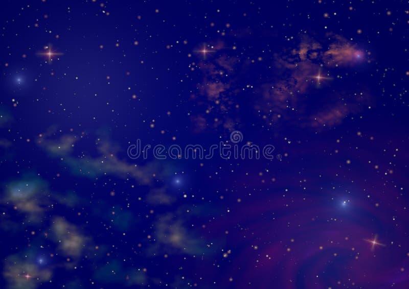 nocne niebo ilustracja wektor