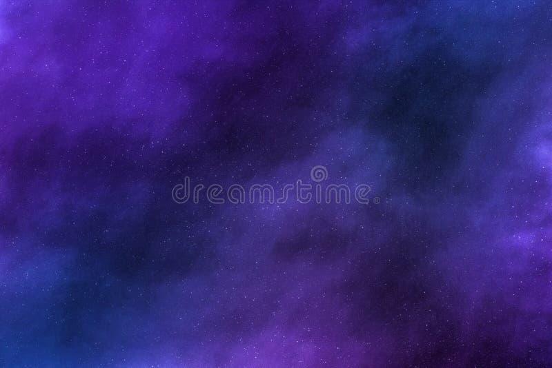 Nocne niebo gra g??wna rol? t?o, mg?awic chmury w kosmosach zdjęcia stock