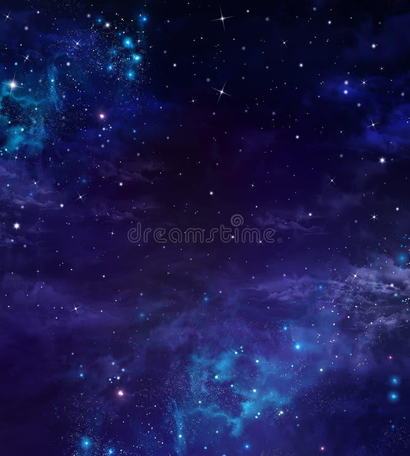 nocne niebo gwiaździsty ilustracji