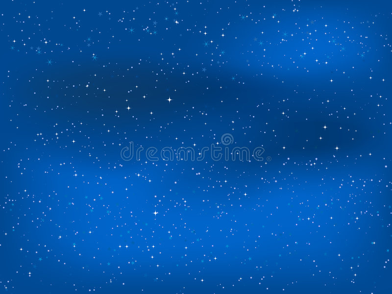 nocne niebo gwiaździsty royalty ilustracja