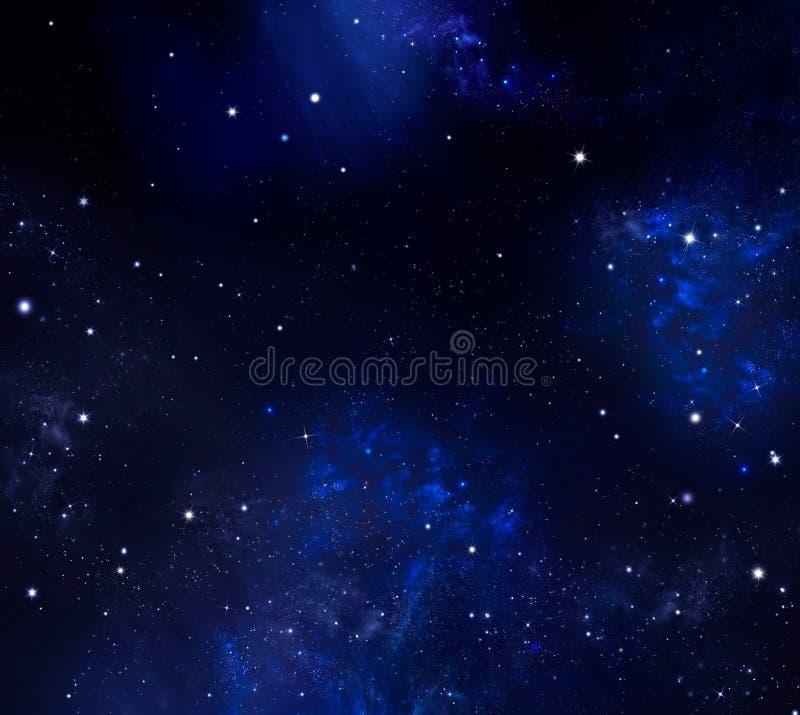 nocne niebo gwiaździsty ilustracja wektor