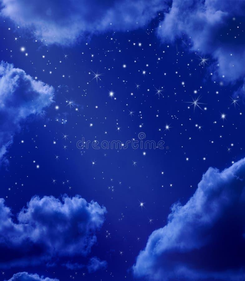 nocne niebo gwiazdy ilustracja wektor