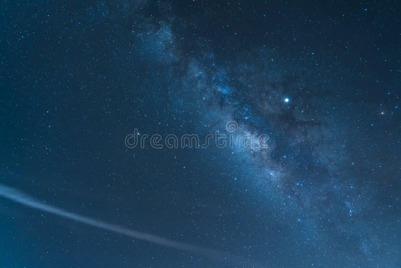 Nocne niebo i drogi mlecznej galaxy widzieć od góry Teide parka narodowego zdjęcia royalty free