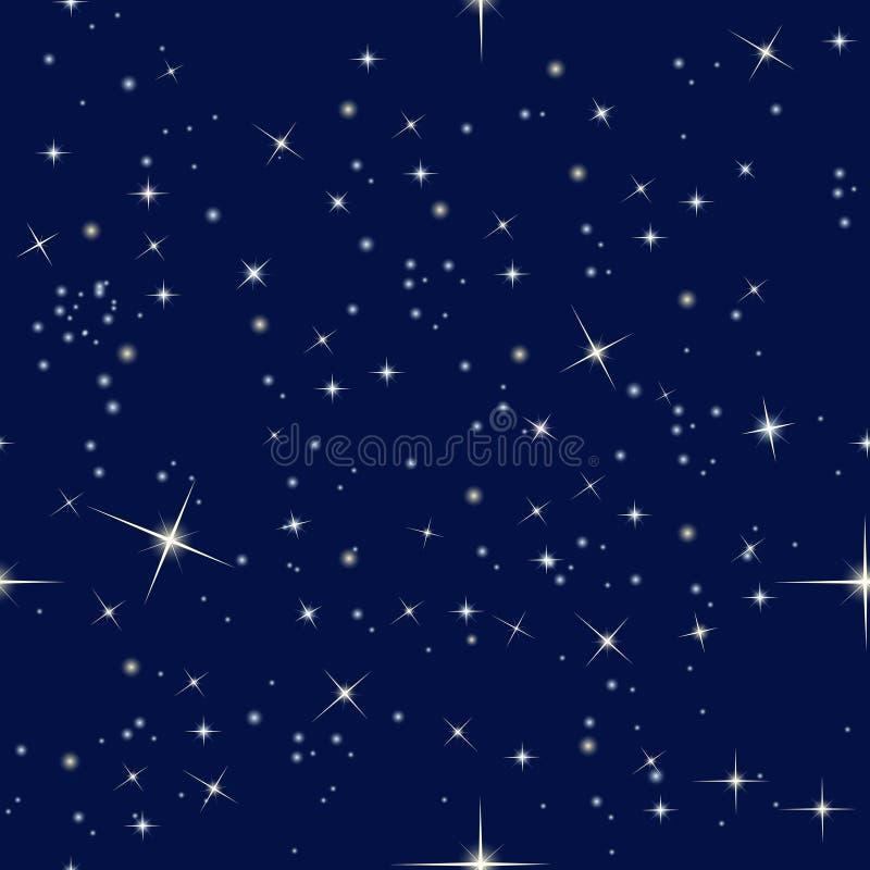 Nocne niebo i gwiazdy ilustracja wektor