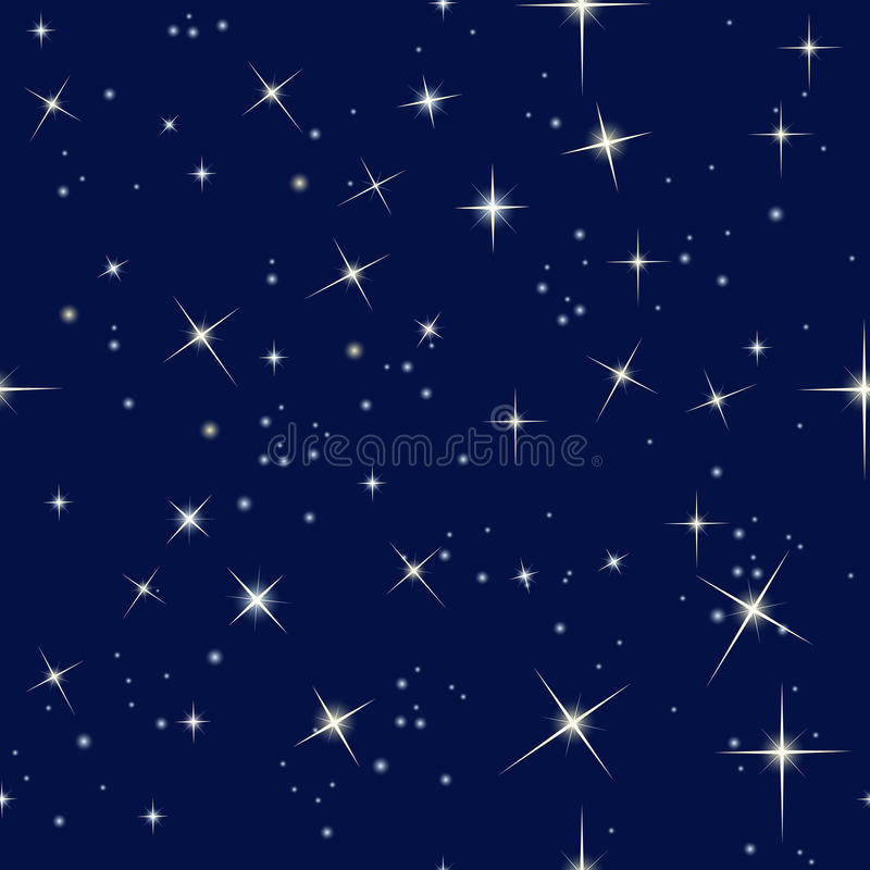 Nocne niebo i gwiazdy ilustracji
