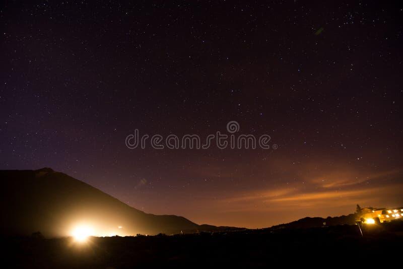 Nocne Niebo obrazek zdjęcie royalty free