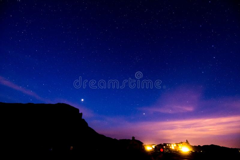 Nocne Niebo obrazek zdjęcia royalty free