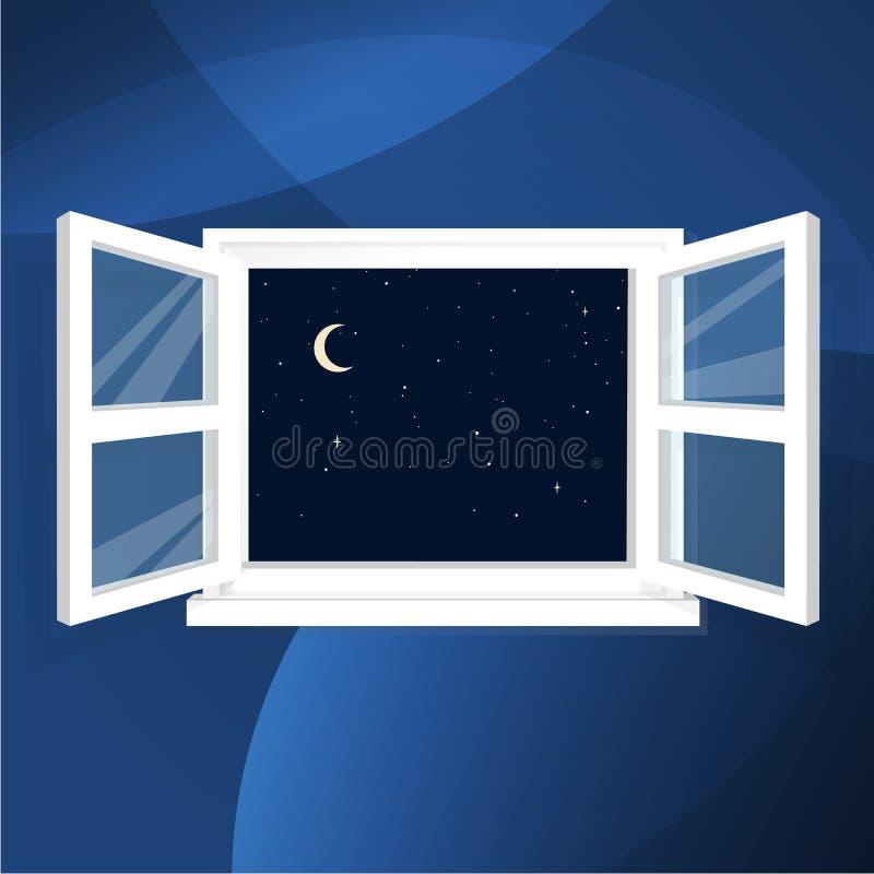 Download Nocne niebo od domu ilustracja wektor. Ilustracja złożonej z magia - 57653004