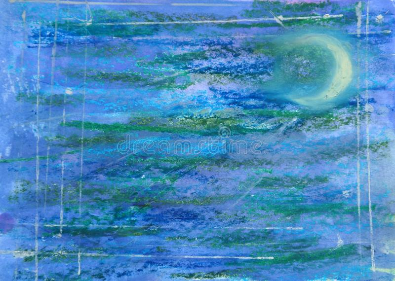 Nocne niebo w obrazku royalty ilustracja