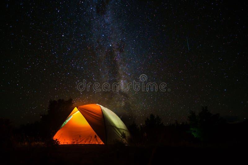 Nocne niebo w Patagonia zdjęcie stock
