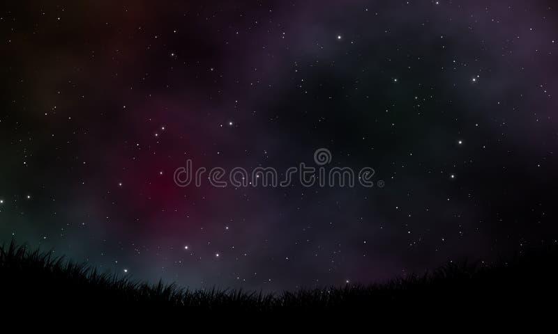 Nocne niebo widoku projekta tło ilustracji