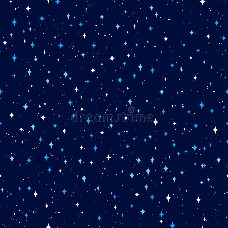 Nocne niebo zmrok - błękita deseniowy wektor ilustracja wektor