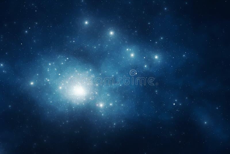 Nocnego nieba tło royalty ilustracja