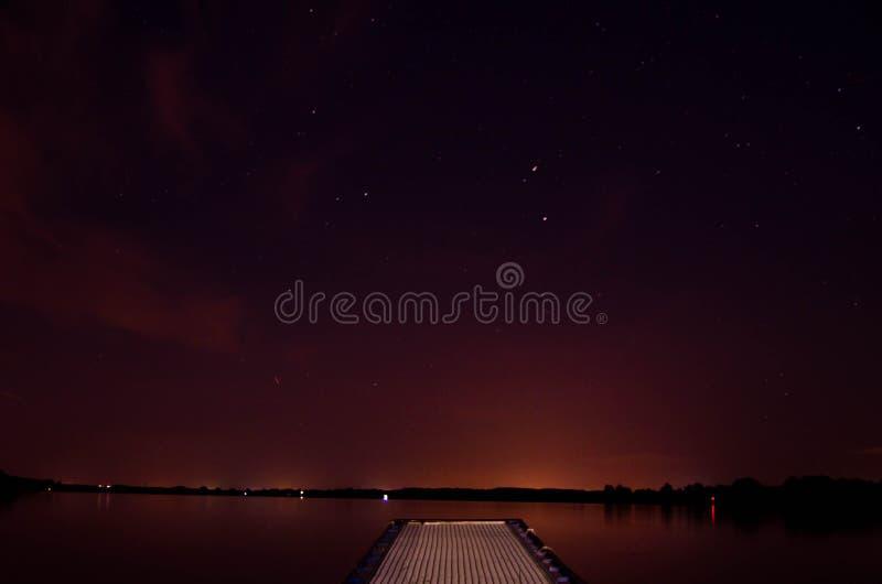 Nocny molo zdjęcia stock
