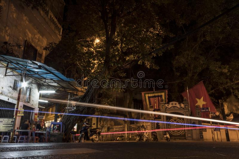 Nocturna en Hanoi stockfotografie