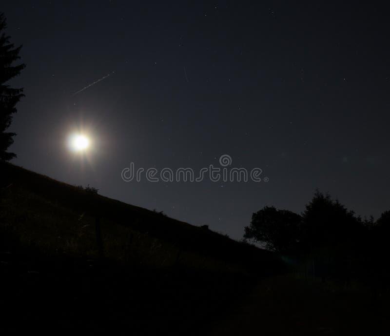 Nocturnal Alpine Landscape stock photo