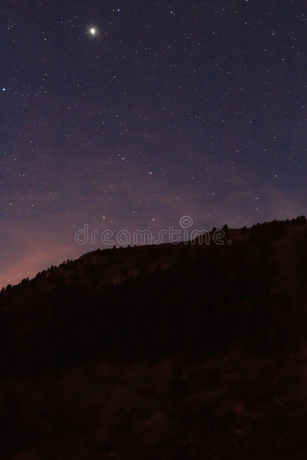 Nocturne from the ski slopes of La Molina.  stock photo