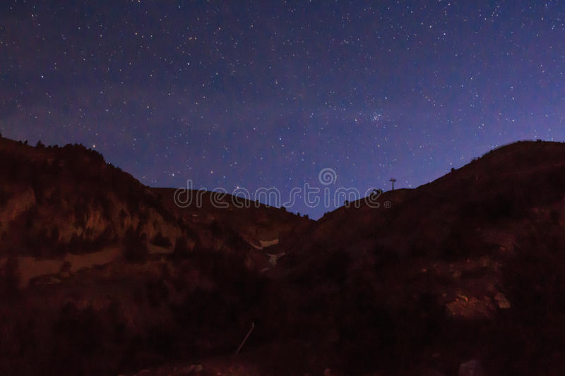Nocturne from the ski slopes of La Molina.  stock photography