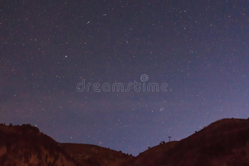 Nocturne from the ski slopes of La Molina.  royalty free stock photos